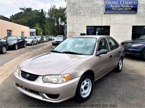 2001 Toyota Corolla for sale at Best Choice Auto Sales in Virginia Beach VA