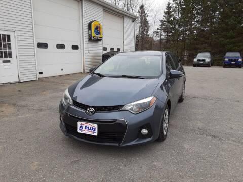 2015 Toyota Corolla for sale at A-Plus Motors in Alton ME