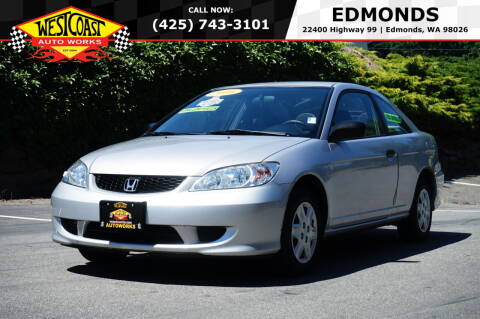 2005 Honda Civic for sale at West Coast Auto Works in Edmonds WA