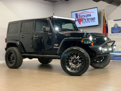 2012 Jeep Wrangler Unlimited for sale at Texas Prime Motors in Houston TX