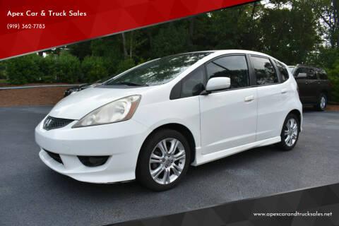 2011 Honda Fit for sale at Apex Car & Truck Sales in Apex NC