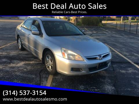 2007 Honda Accord for sale at Best Deal Auto Sales in Saint Charles MO