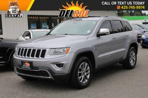 2014 Jeep Grand Cherokee for sale at Del Sol Auto Sales in Everett WA