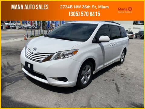 2015 Toyota Sienna for sale at MANA AUTO SALES in Miami FL