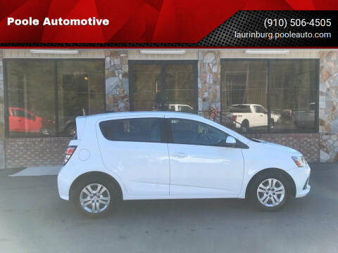 2017 Chevrolet Sonic for sale at Poole Automotive in Laurinburg NC