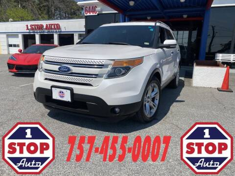 2012 Ford Explorer for sale at 1 Stop Auto in Norfolk VA