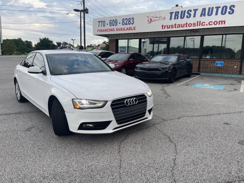 2013 Audi A4 for sale at Trust Autos, LLC in Decatur GA