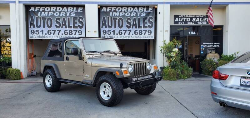 2005 Jeep Wrangler for sale at Affordable Imports Auto Sales in Murrieta CA