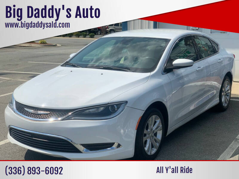 2015 Chrysler 200 for sale at Big Daddy's Auto in Winston-Salem NC