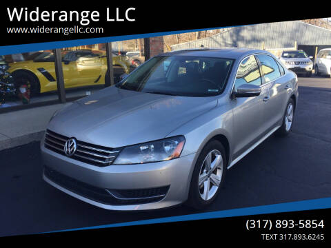 2013 Volkswagen Passat for sale at Widerange LLC in Greenwood IN