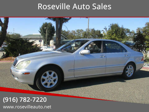 2001 Mercedes-Benz S-Class for sale at Roseville Auto Sales in Roseville CA