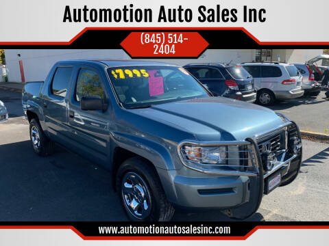 2007 Honda Ridgeline for sale at Automotion Auto Sales Inc in Kingston NY