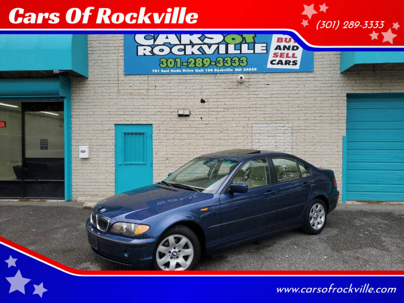 2005 BMW 3 Series for sale at Cars Of Rockville in Rockville MD