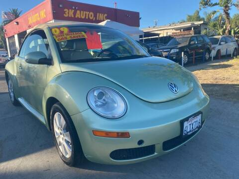 2009 Volkswagen New Beetle Convertible for sale at 3K Auto in Escondido CA