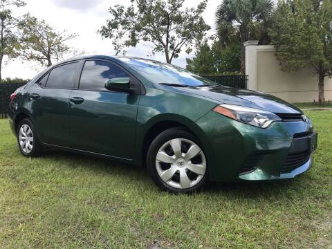 2014 Toyota Corolla for sale at Kaler Auto Sales in Wilton Manors FL