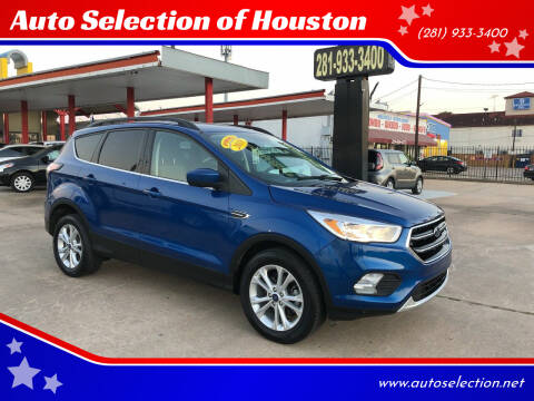 2018 Ford Escape for sale at Auto Selection of Houston in Houston TX
