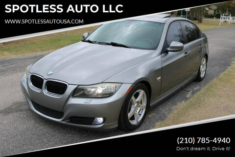 2010 BMW 3 Series for sale at SPOTLESS AUTO LLC in San Antonio TX