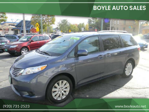 2016 Toyota Sienna for sale at Boyle Auto Sales in Appleton WI