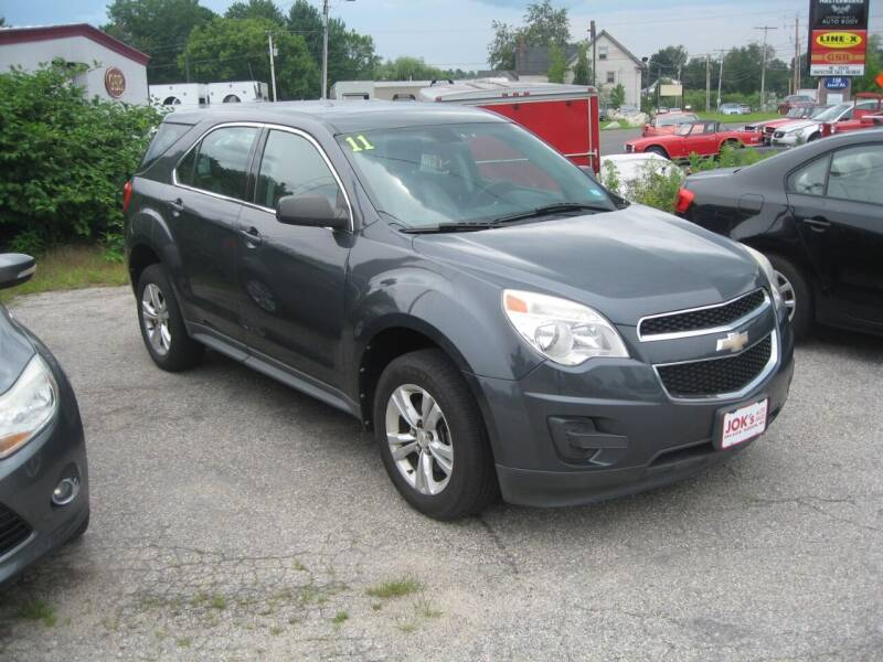 2011 Chevrolet Equinox for sale at Joks Auto Sales & SVC INC in Hudson NH