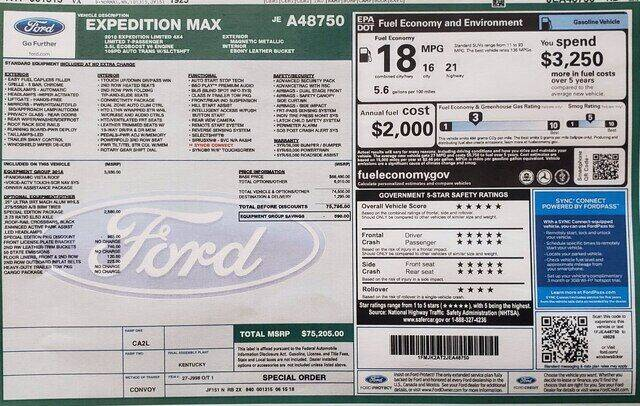 2018 Ford Expedition MAX for sale in Elkton, VA