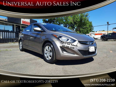 2016 Hyundai Elantra for sale at Universal Auto Sales Inc in Salem OR