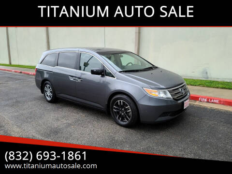 2013 Honda Odyssey for sale at TITANIUM AUTO SALE in Houston TX