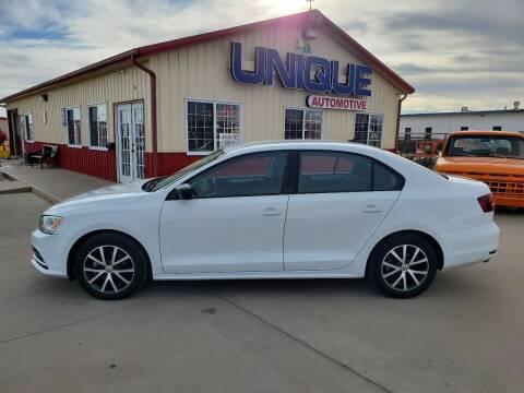 "2016 Volkswagen Jetta for sale at UNIQUE AUTOMOTIVE ""BE UNIQUE"" in Garden City KS"