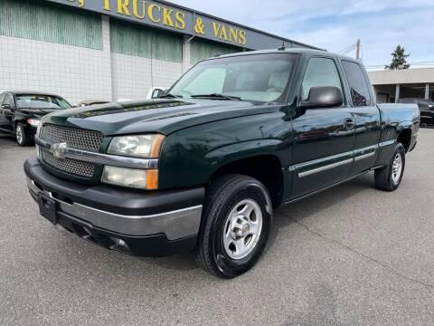 2003 Chevrolet Silverado 1500 for sale at Vista Auto Sales in Lakewood WA