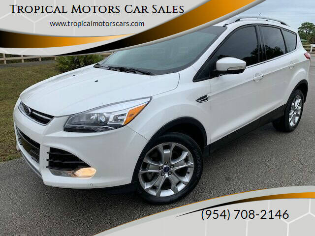 2014 Ford Escape for sale at Tropical Motors Car Sales in Deerfield Beach FL