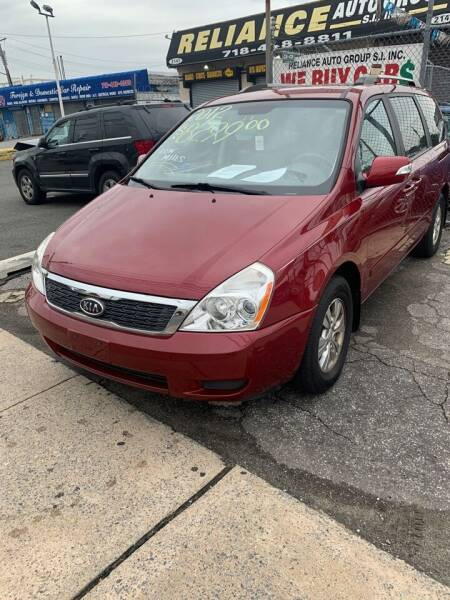 2012 Kia Sedona for sale at Reliance Auto Group in Staten Island NY