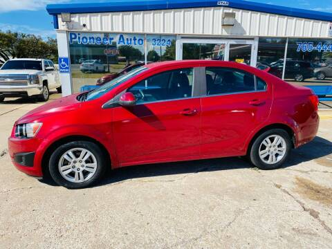 2014 Chevrolet Sonic for sale at Pioneer Auto in Ponca City OK