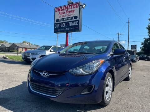 2013 Hyundai Elantra for sale at Unlimited Auto Group in West Chester OH