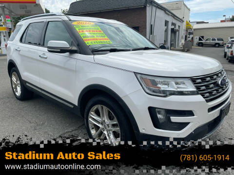 2016 Ford Explorer for sale at Stadium Auto Sales in Everett MA