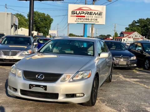 2006 Lexus GS 300 for sale at Supreme Auto Sales in Chesapeake VA