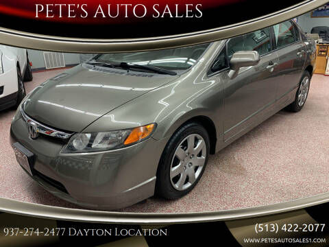 2008 Honda Civic for sale at PETE'S AUTO SALES LLC - Dayton in Dayton OH