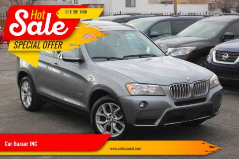 2013 BMW X3 for sale at Car Bazaar INC in Salt Lake City UT