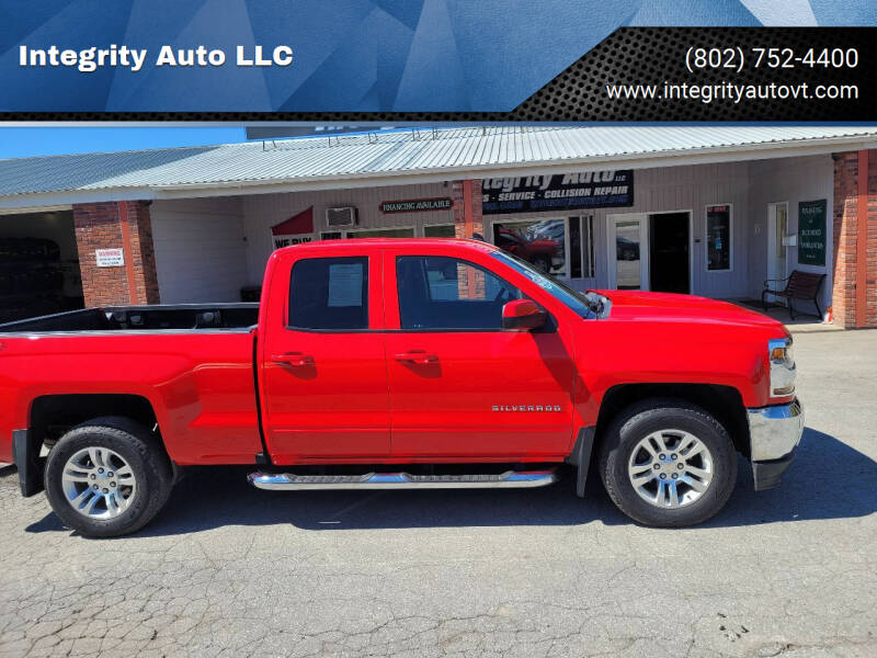 2018 Chevrolet Silverado 1500 for sale at Integrity Auto LLC - Integrity Auto 2.0 in St. Albans VT