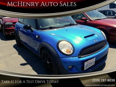 2011 MINI Cooper for sale at MCHENRY AUTO SALES in Modesto CA