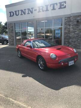 2002 Ford Thunderbird for sale at Dunn-Rite Auto Group in Kilmarnock VA