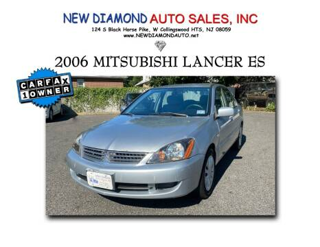 2006 Mitsubishi Lancer for sale at New Diamond Auto Sales, INC in West Collingswood Heights NJ