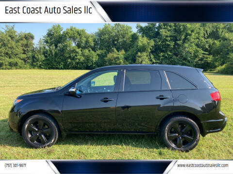 2010 Acura MDX for sale at East Coast Auto Sales llc in Virginia Beach VA