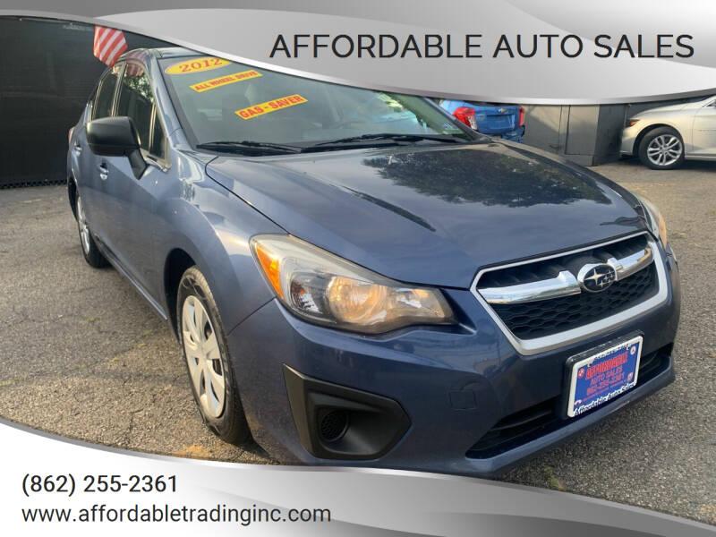 2012 Subaru Impreza for sale at Affordable Auto Sales in Irvington NJ