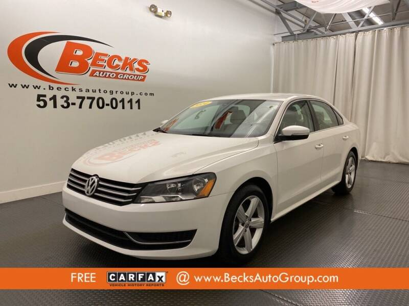 2014 Volkswagen Passat for sale at Becks Auto Group in Mason OH
