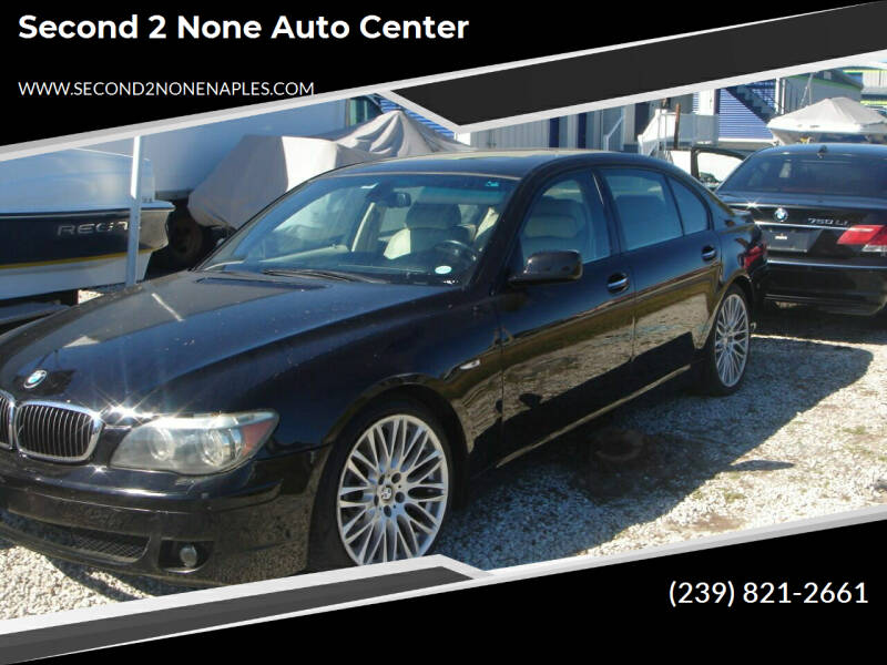 2007 BMW 7 Series for sale at Second 2 None Auto Center in Naples FL