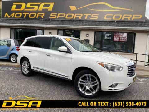 2013 Infiniti JX35 for sale at DSA Motor Sports Corp in Commack NY