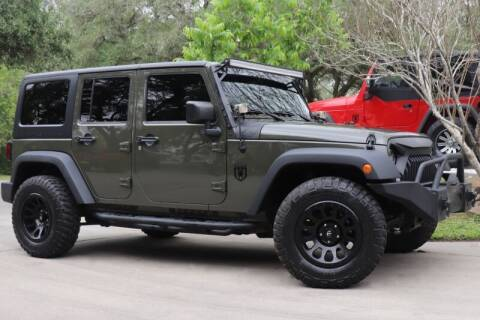 2016 Jeep Wrangler Unlimited for sale at SELECT JEEPS INC in League City TX