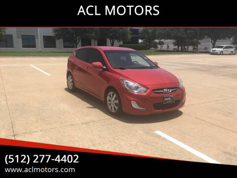 2012 Hyundai Accent for sale at ACL MOTORS in Austin TX