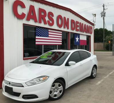 2014 Dodge Dart for sale at Cars On Demand 3 in Pasadena TX