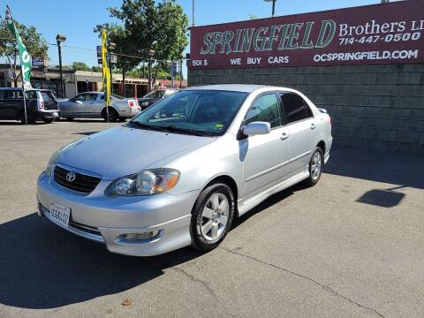 2008 Toyota Corolla for sale at SPRINGFIELD BROTHERS LLC in Fullerton CA