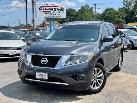 2014 Nissan Pathfinder for sale at Supreme Auto Sales in Chesapeake VA
